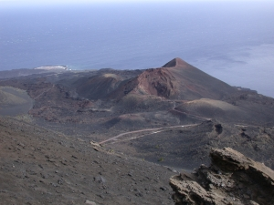 vulkanisch landschap op La Palma
