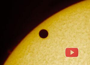 Start een animatie van het verloop van de Venusovergang