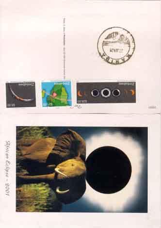 de kaart met de postzegels